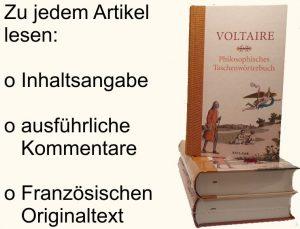 Voltaire Philosophisches Wörterbuch