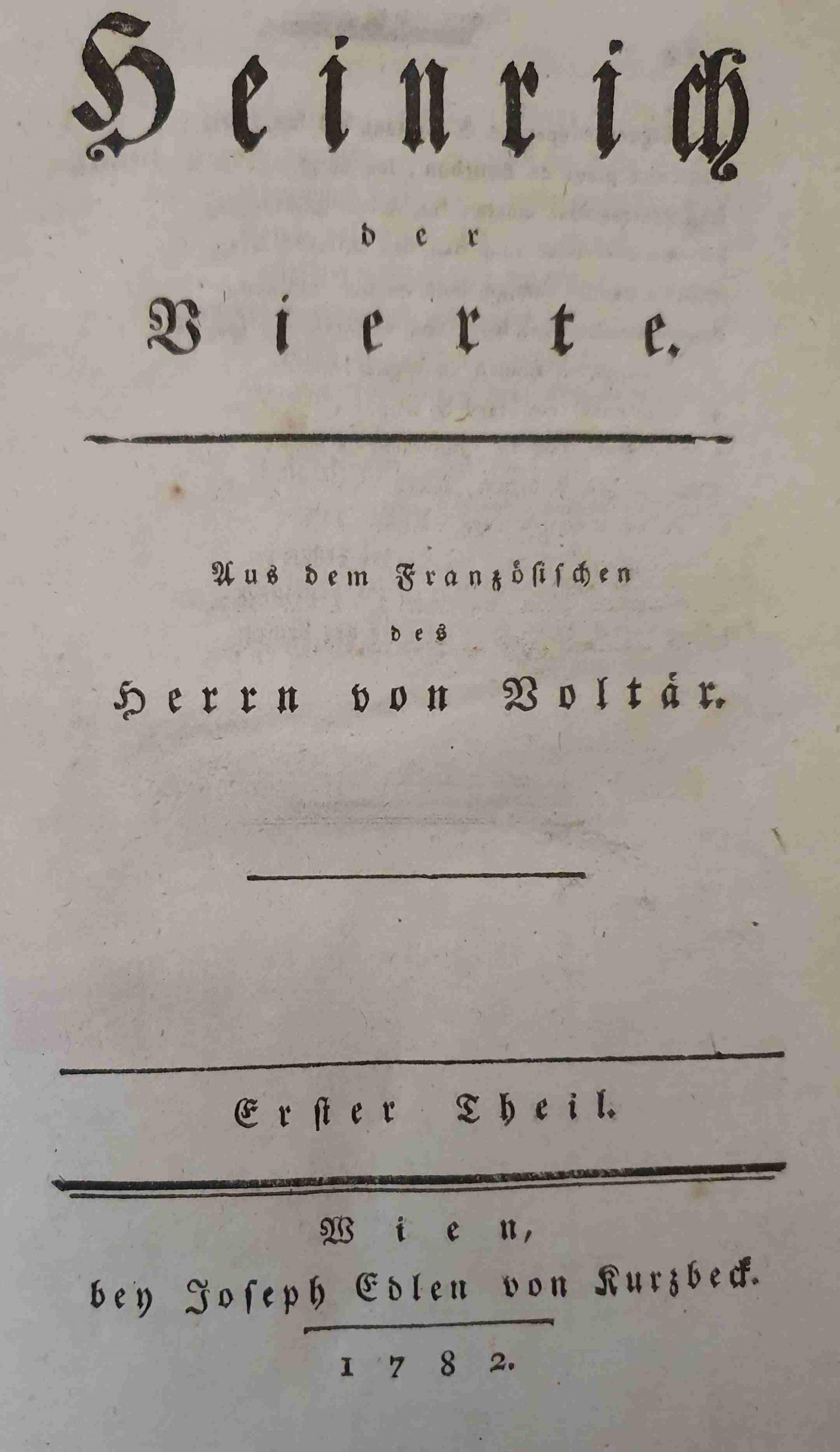 Voltaire Heinrich IV